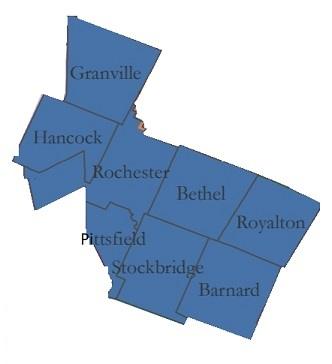 Communities served by the White River Alliance.  The Alliances serves the waste disposable needs of Granville, Hancock, Rochester, Bethel, Royalton, Pittsfield, Stockbridge, and Barnard Vermont
